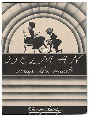 Original 1930s-1940s Delman Shoes C. Crawford Hollidge Booklet/Catalog