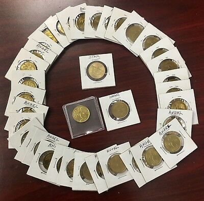 37-pcs. BRASS ANGEL TOKENS