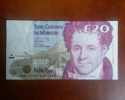 IRELAND 20 Pounds 1995 Better Quality CRISP BANKNOTE PAPER MONEY VALUE XF+