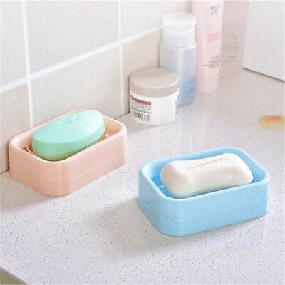 Bathroom Water Draining Soap Dish Case Holder Drainer Saver Stand Box Tool