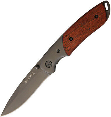"""Browning Cocobolo Linerlock Knife 3220096 4 3/8"""" closed. 3 1/8"""" ti-coated stainl"""