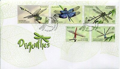 2017 Dragonflies (Gummed Stamps) FDC - Freshwater Qld 4870 PMK