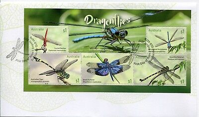 2017 Dragonflies (Mini Sheet) FDC - Freshwater Qld 4870 PMK