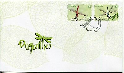 2017 Dragonflies (P&S Stamps) FDC - Freshwater Qld 4870 PMK