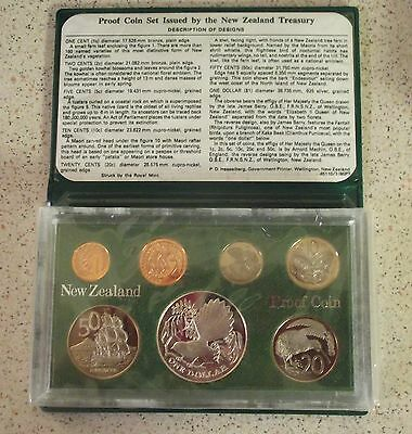 New Zealand -1980   Proof Coin set featuring Silver  One  Dollar