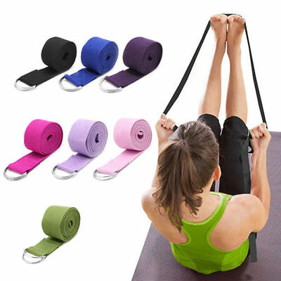Sport Yoga Stretch Strap D-Ring Belts Gym Waist Leg Fitness Training flexibility