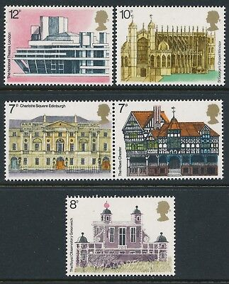 Gb 1975 Architectural Heritage Set Of 5 Fine Mint Mnh/muh Sg975-Sg979