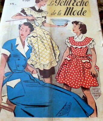 *VTG 1950s PARIS FASHION SEWING PATTERN MAGAZINE PETIT ECHO de la MODE Catalog