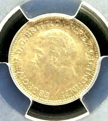 Great Britain 1932 George V PCGS MS63 Secure Silver 3 Pence BU Scarce