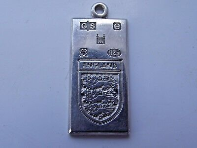Solid Silver Hallmarked England Football Rugby Pendant Ingot Ltd Ed 2004 Signed