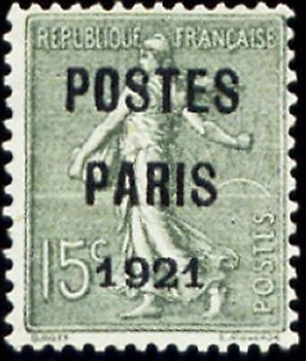 """FRANCE PREOBLITERE TIMBRE STAMP N° 28 """" SEMEUSE SURCHARGE 15c """" NEUF (x) TB"""