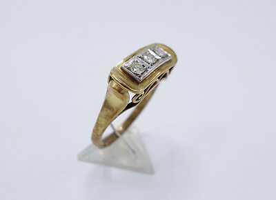 Prunkvoller Art Deco 585 Gold Brillant Ring Gr. 62 GH 107343