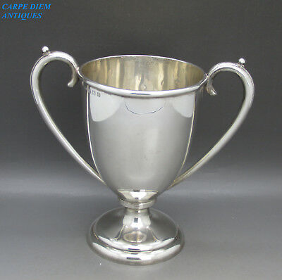 VINTAGE NICE HEAVY SOLID STERLING SILVER TROPHY CUP, WHS, 225g BIRMINGHAM 1938