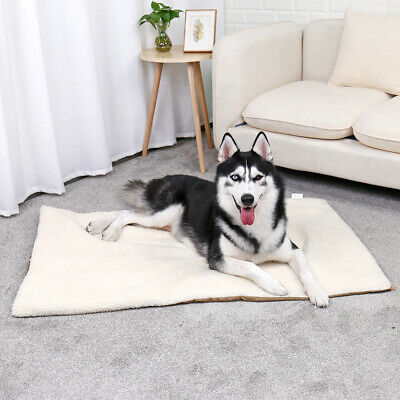 Large Self Heating Dog Bed Mat Soft Warm Pet Cat Rug Thermal Washable Pad