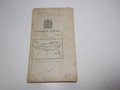 Antique Ordnance Survey 1913 Map Cloth Backed Canterbury And Margate Sheet 118