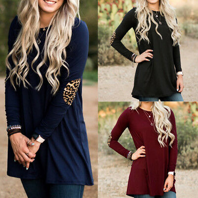 Fashion Women Long Sleeve T-Shirt Tops Ladies Casual Loose Pullover Blouse Shirt