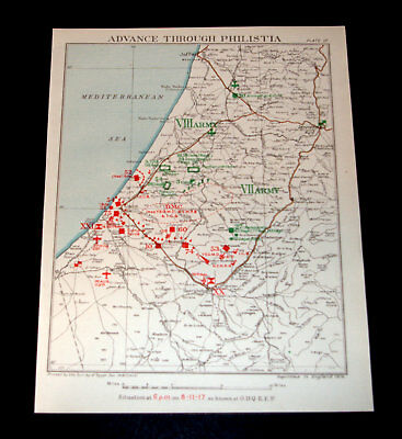 ADVANCE OF EGYPTIAN EXPEDITIONARY FORCE THROUGH PHILISTIA 8/11/1917 Plate 10
