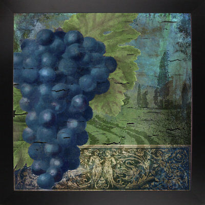Fleur De Lis Living 'Vino Blu Two' Graphic Art Print