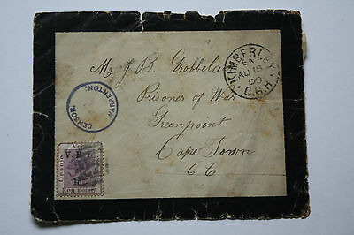 South Africa - Oranje Staat Prisoner of war - Kimberley  to Cape Town AU 18  00