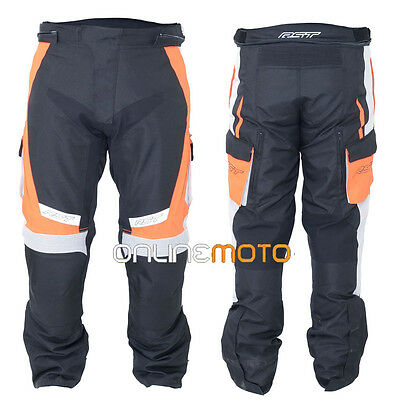 RST 1889 Rallye Motorcycle Textile Trouser Flo Red