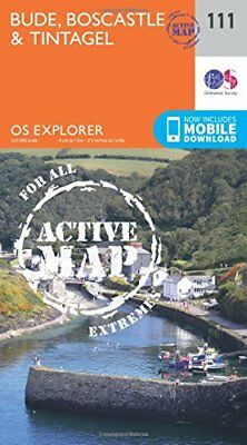 Bude, Boscastle and Tintagel (OS Explorer Active Map) New Map Book Ordnance Surv