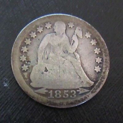 1853 Seated Liberty Dime~Arrows At Date~