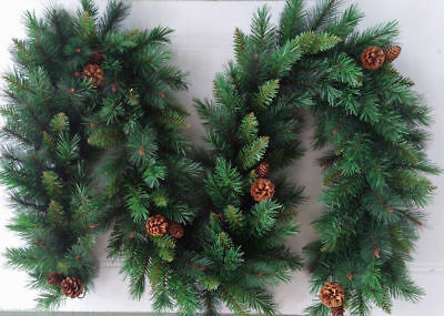 Best Artificial 12ft/360cm Luxury Christmas Garland & Pine Cones Xmas Decor tree