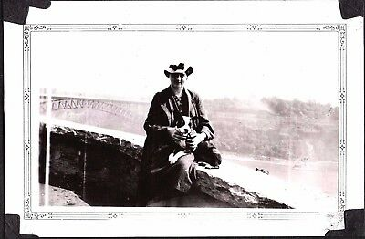 Vintage Photograph 1936 Fashion Boston Terrier Dog Puppy Anderson Indiana Photo