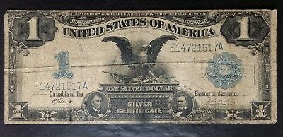 1899 $1 Black Eagle Silver Certificate Large Note