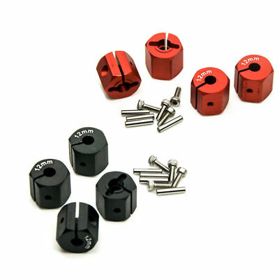 4x Aluminum 12mm Hex Wheel Hubs Set 12mm 11mm 10mm 9mm 8mm Thickness for RC Cars