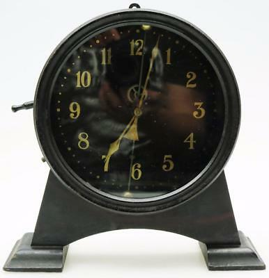 Rare Antique 1920's Metal English Watson & Webb Gravity Mystery Mantel Clock