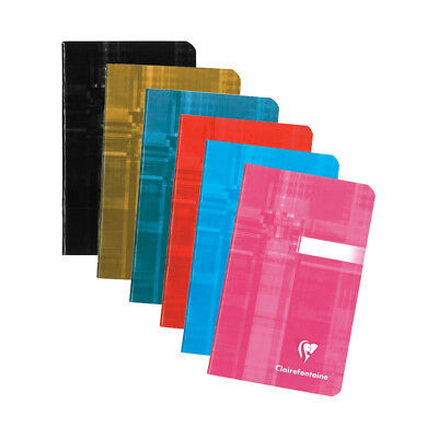Clairefontaine #63596 Notebook 3.5 x 5.5, Assorted Colors, Ruled