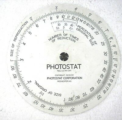 Photostat Wheel for Picture Resizing Relic of the past