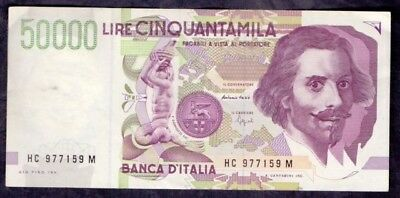 50000 Lire From Italy XF+