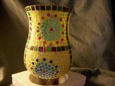 Home Interiors and Gifts, Mosaic Hurricane Candel holder, Item 76026 #1