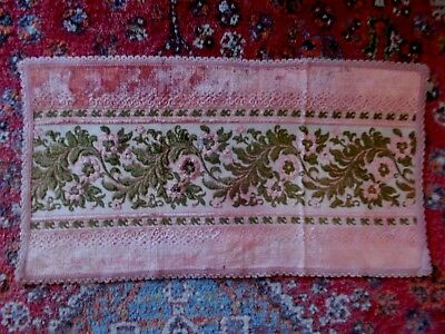 Vintage~Antique French Cut Velvet Place Mat For Table~Sideboard~Dressingtable
