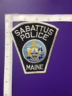 Sabattus Maine Police  Shoulder Patch