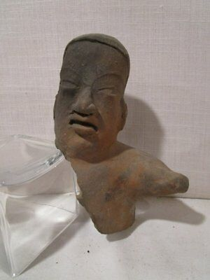 ANTIQUE MIDDLE PRE-CLASSIC 1150-550 BC Pre-Columbian  TLATILCO ? HEAD FIGURE