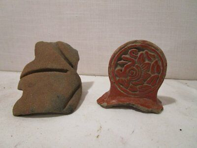 ANTIQUE MIDDLE PRE-CLASSIC 1150-550 BC Pre-Columbian  POTTERY FRAGMANTS
