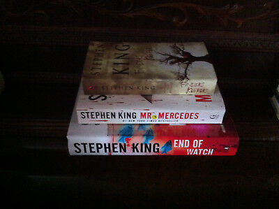 The Bill Hodges Trilogy by Stephen King, vols. 1-2-3