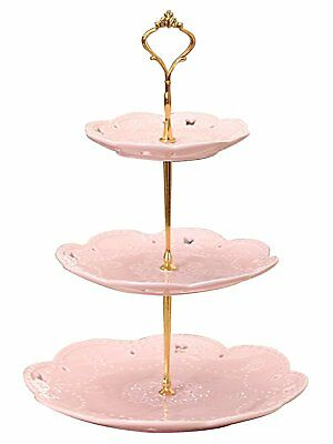 Replacement Plates for Ceramic Tiered Cupcake Stand Dessert Display Platter