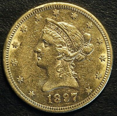1897 S $10 US Liberty Head Gold Eagle Coin (07700)