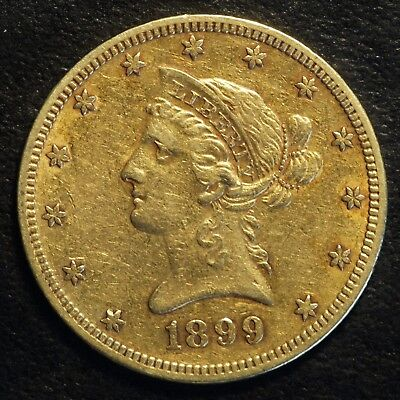 1899 $10 US Liberty Head Gold Eagle Coin (07701)