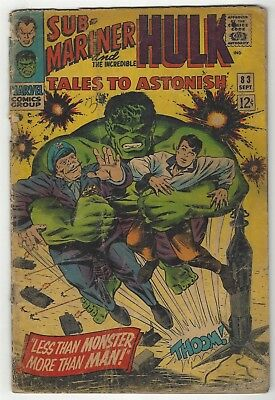 Tales To Astonish 83! Fr/gd 1.5! Cool Silver Age Marvel Comic Book!