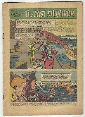 Voyage To The Bottom Of The Sea 1! Coverless/inc! Cool Silver Age Dell Tv Comic!