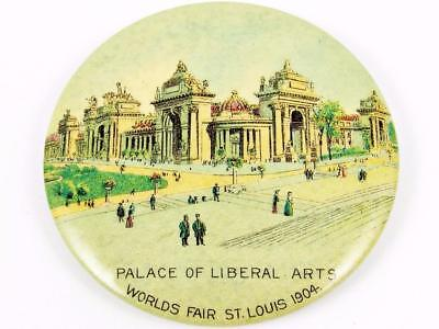 1904 St. Louis World's Fair Expo Palace Of Liberal Arts Celluloid Pocket Mirror