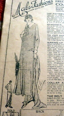 RARE VTG 1920s COAT DRESS Sewing Pattern BUST 36