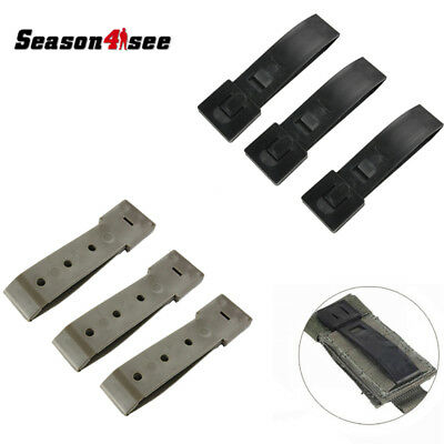 3Pcs FMA Molle Webbing Connecting Lock Buckle Outdoor Sports Strap Clip Hooks