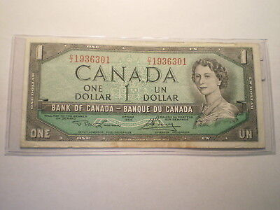 1973-74 One Dollar Note Bank Of Canada/ Folds, Stains