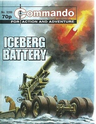 Iceberg Battery,commando For Action And Adventure,no.3289,war Comic,1999